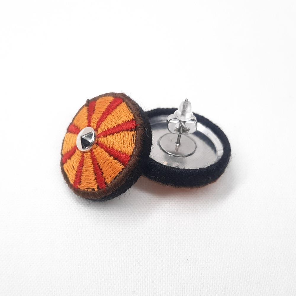 Viking Shield Earrings - Sunray